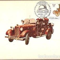 Sellos: PORTUGAL & MAXI, MODELO 1920 AA-25-32, HOMENAJE AL BOMBERO PORTUGUÉS, AVEIRO 1982 (1545) . Lote 195011138