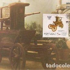 Sellos: PORTUGAL & MAXI, BOMBA PERRIER 1856, HOMENAJE AL BOMBERO PORTUGUÉS, VIANA DO CASTELO 1982 (1545). Lote 195011366
