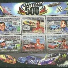 Sellos: GUINEA 2008 IVERT 3630/35 *** 50º ANIVERSARIO CARRERA AMERICANA DE STOCK-CARS DAYTONA 500. Lote 195410772