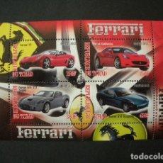 Sellos: TCHAD 2012 HB *** COCHES - MODELOS DE FERRARI. Lote 196456672