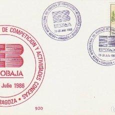 Sellos: AÑO 1986, SALON INTERNACIONAL DEL VEHICULO DE COMPETICION Y ACTIVIDADES CONEXAS EN ZARAGOZA. Lote 197035332