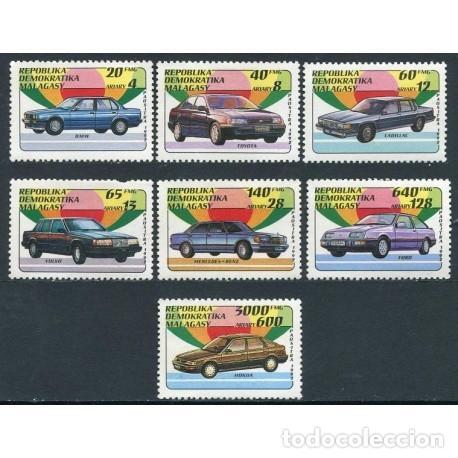MADAGASCAR 1992 IVERT 1137/43 *** COCHES - AUTOMOVILS (Sellos - Temáticas - Automóviles)