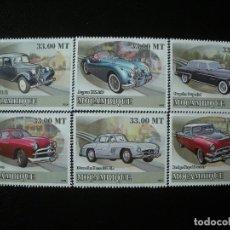 Sellos: MOZAMBIQUE 2009 MICHEL 3095/10 *** HISTORIA DEL TRANSPORTE - COCHES ANTIGUOS. Lote 198329122