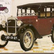 Sellos: PORTUGAL & MAXI, AUSTIN SEVEN, MUSEO DE AUTOMÓVILES ANTIGUOS OEIRAS, PAÇO DE ARCOS 1992 (27230). Lote 198633012