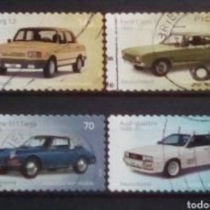 Sellos: ALEMANIA RECIENTE AUTOMÓVILES SERIE DE SELLOS USADOS. Lote 199047068