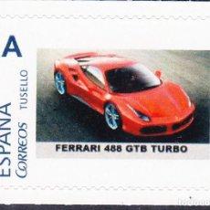 Sellos: FERRARI 488 GTB TURBO TEMA CARS -SELLOS PERSONALIZADO ESPAÑA ULTIMO EN EXISTENCIA. Lote 199219622