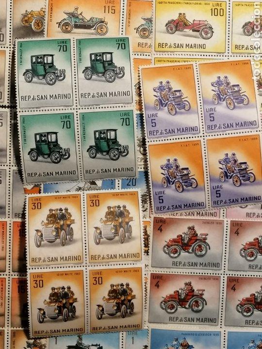 Sellos: Coches San Marino Yvert 527/541 nuevo Bloque de Cuatro - Foto 2 - 199731317