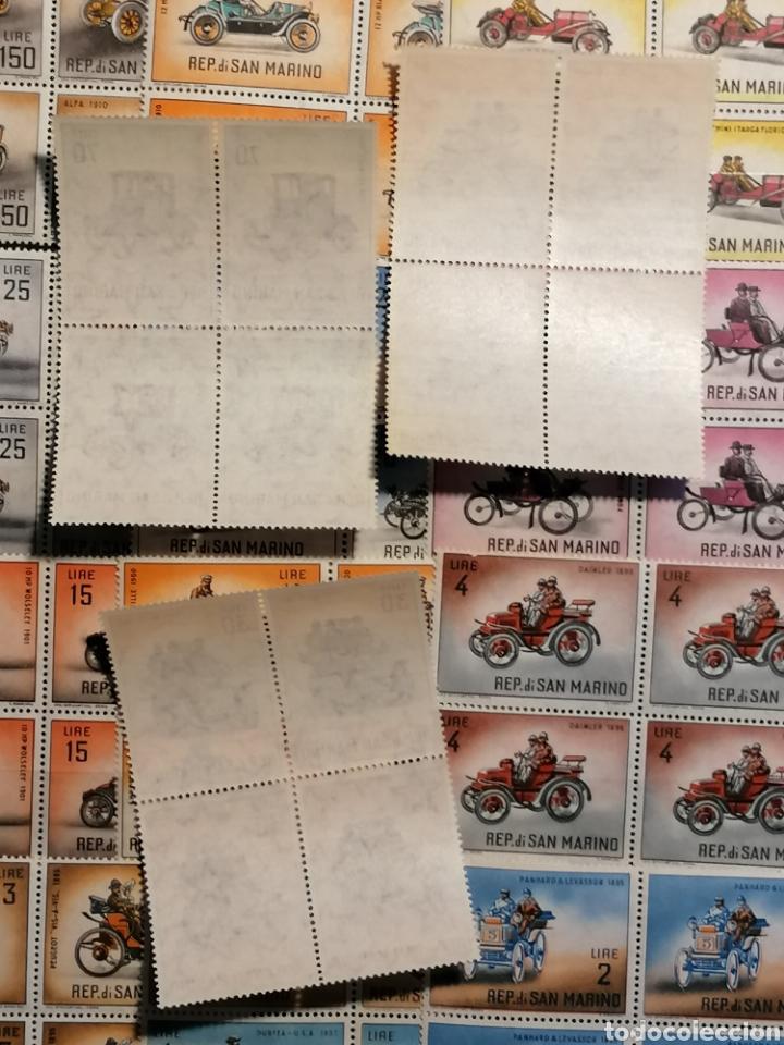Sellos: Coches San Marino lote sellos 4 series Yvert 527/541 nuevo - Foto 3 - 280942593