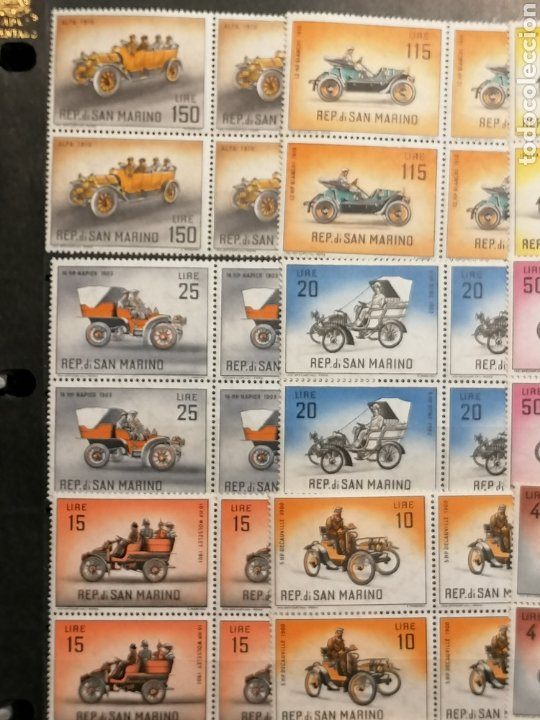Sellos: Coches San Marino lote sellos 4 series Yvert 527/541 nuevo - Foto 5 - 280942593