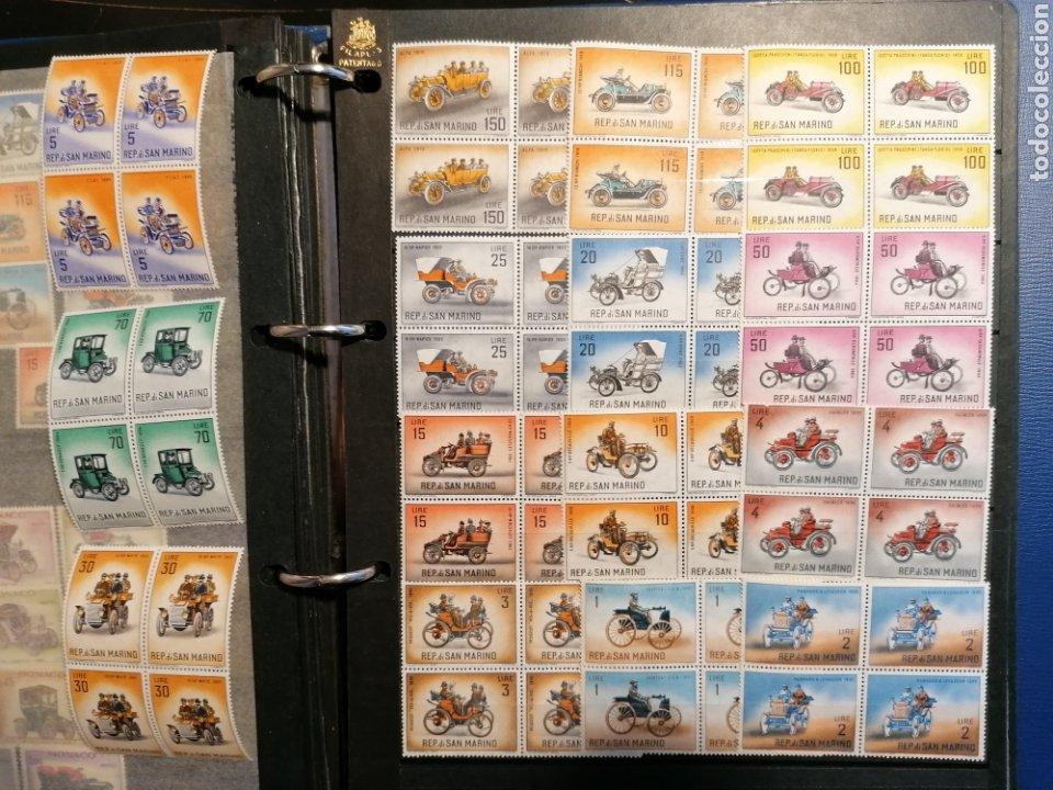 COCHES SAN MARINO YVERT 527/541 NUEVO BLOQUE DE CUATRO (Sellos - Temáticas - Automóviles)