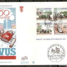 Sellos: ALEMANIA BERLIN. 1971.50 AÑOS DE LA CARRERA AVUS. AUTOMÓVIL, COCHES.. Lote 200375843