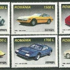 Sellos: RUMANIA 1999 IVERT 4575/80 *** AUTOMOVILES DE LA MARCA FERRARI - COCHES. Lote 200550335