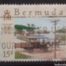 Timbres: BERMUDAS COCHE CLÁSICO SELLO USADO. Lote 201495407