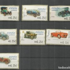 Timbres: ESPAÑA SPAIN ATM AUTOMOVIL PEUGEOT BEBE PEGASO FORD ROLLS ROYCE HUMER HISPANO SUIZA. Lote 204494870