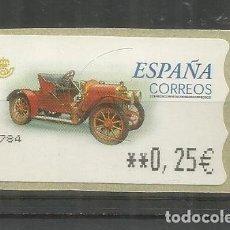 Timbres: ESPAÑA SPAIN ATM AUTOMOVIL CAR HISPANO SUIZA T. Lote 204495273