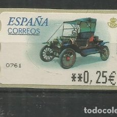 Timbres: ESPAÑA SPAIN ATM AUTOMOVIL CAR FORD T. Lote 204495530