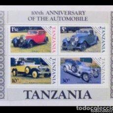 Sellos: COCHES CLÁSICOS HOJA BLOQUE DE SELLOS NUEVOS DE TANZANIA. Lote 205346830