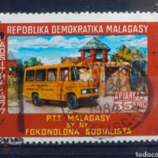 Timbres: MADAGASCAR AUTOBUSES SELLO USADO. Lote 205902613