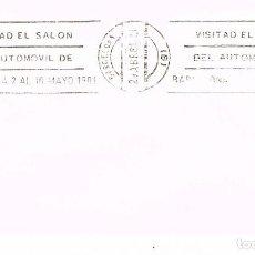 Sellos: AÑO 1981, SALÓN DEL AUTOMOVIL DE BARCELONA, RODILLO. Lote 206359237