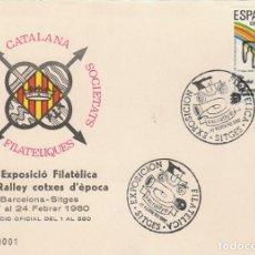 Sellos: AÑO 1980, RALLY DE COCHES DE EPOCA EN SITGES, FCSF. Lote 206359467