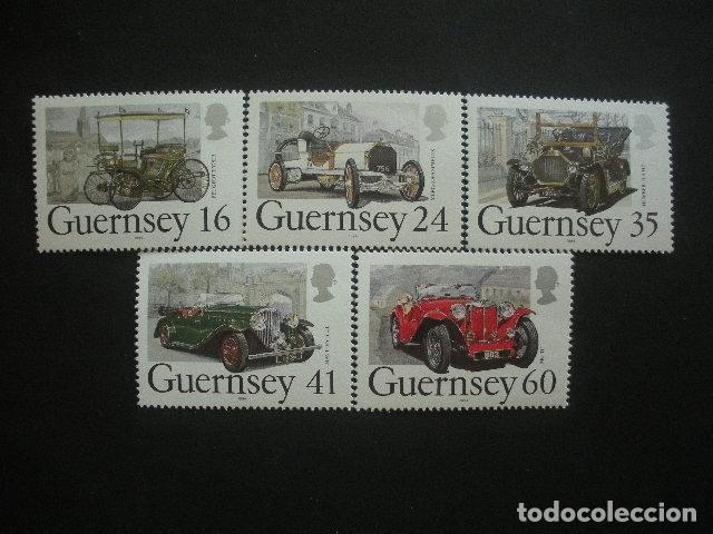 GUERNESEY 1994 IVERT 648/52 *** COCHES CLÁSICOS ANTIGUOS - AUTOMOVILES (Sellos - Temáticas - Automóviles)