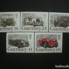 Sellos: GUERNESEY 1994 IVERT 648/52 *** COCHES CLÁSICOS ANTIGUOS - AUTOMOVILES. Lote 207625920