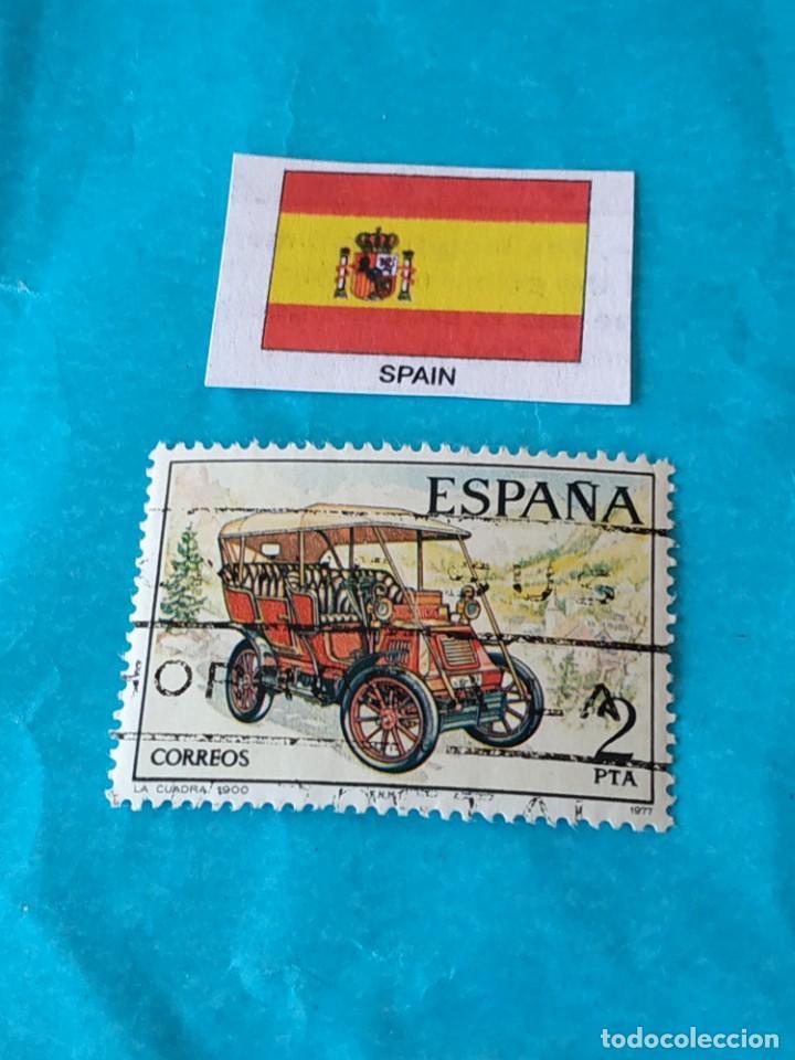 ESPAÑA 1C (Sellos - Temáticas - Automóviles)