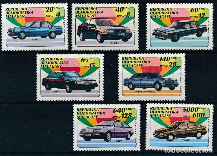 MADAGASCAR 1992 IVERT 1137/43 *** COCHES - AUTOMOVILES (Sellos - Temáticas - Automóviles)