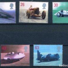Sellos: GRAN BRETAÑA 1998 IVERT 2056/60 *** AUTOMOVILES ANTIGUOS DE ALTA VELOCIDAD. Lote 208572370
