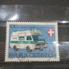 Sellos: SELLOS AUSTRIA (OSTERREICH) MTDOS/1981/100ANIV./SERVICIO/MEDICO/AMBULANCIA/TRANSPORTES/ESPECIALES/C. Lote 211390622
