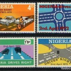 Sellos: NIGERIA 1972 IVERT 270/3 ** CONDUCIÓN DEL AUTOMOVIL POR LA DERECHA - COCHES. Lote 211668540
