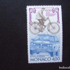 Sellos: MONACO Nº YVERT 1717*** AÑO 1990. CENTENARIO AUTOMOVIL CLUB DE MONACO. Lote 214518151