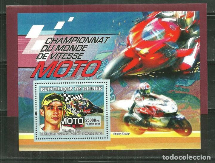 R. GUINEA 2007 HB IVERT 464 *** DEPORTES - MOTOCICLISMO - VALENTINO ROSSI (Sellos - Temáticas - Automóviles)