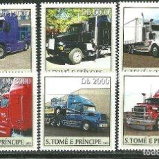 Sellos: SANTO TOME & PRINCIPE 2003 IVERT 1596/601 *** AUTOMÓVILES - CAMIONES. Lote 214894183