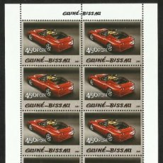 Sellos: GUINEA 2005 HOJA BLOQUE SELLOS TEMÁTICA AUTOS FERRARI- COCHES - AUTOMOVIL DEPORTIVO. Lote 217040883