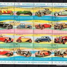 Sellos: GUINEA ECUATORIAL 105 HB - AÑO 1977 - COCHES ANTIGUOS. Lote 217489856