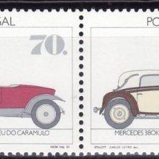 Sellos: SELLOS COCHES PORTUGAL 1992 1870/71 2V. HISPANO - SUIZA/ MERCEDES 38OK 1934. Lote 220853051