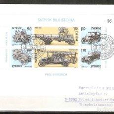 Sellos: SUECIA .1980. FDC. HB. 8. HISTORIA DEL AUTOMÓVIL SUECO. Lote 221294193