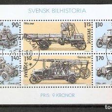Sellos: SUECIA .1980. HB. 8. HISTORIA DEL AUTOMÓVIL SUECO. Lote 221294332