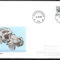 Sellos: SUECIA .1980. FDC. HISTORIA DEL AUTOMÓVIL SUECO. SCANIA 1903.. Lote 221295116