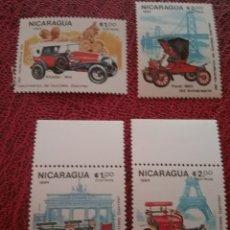 Timbres: SELLOS NICARAGUA NUEVO/1984/150ANIV/NACIMIENTO/GORRLIEB/DAIMLER/INGENIERO/COCHES/VEHICULOS/MONUMENT. Lote 221388198