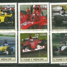 Sellos: SANTO TOME & PRINCIPE 2003 IVERT 1614/19 *** COCHES DE CARRERAS - DEPORTES - AUTOMOVILES. Lote 222807435