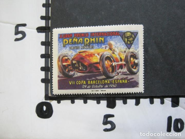 Sellos: VII COPA BARCELONA-X GRAN PREMIO PEÑA RHIN-OCTUBRE 1950-VIÑETA-VER FOTOS-(76.331) - Foto 4 - 229413220
