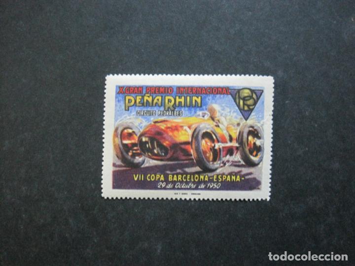 VII COPA BARCELONA-X GRAN PREMIO PEÑA RHIN-OCTUBRE 1950-VIÑETA-VER FOTOS-(76.331) (Sellos - Temáticas - Automóviles)