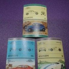 Timbres: SELLOS I. SAN VICENTE NUEVOS/1985/VEHICULOS/COCHES/AUTOMOVIL/PONTIAC/CUNNINGHAM/LANCIA/TRANSPORTE/. Lote 233434905