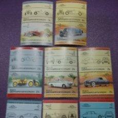 Timbres: SELLOS BEQUIA (GRANADINAS/VICENTE) NUEVOS/1984/COCHES/TRANSPORTE/AUTOMOVIL/VEHICULO/FIAT/CITROEN/BMW. Lote 233442130