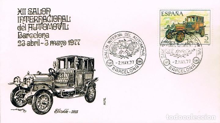 EDIFIL 2411, AUTOMOVILES ANTIGUOS ESPAÑOLES: ELIZALDE DE 1915 PRIMER DIA 23-4-1977 SOBRE DE ALFIL (Sellos - Temáticas - Automóviles)