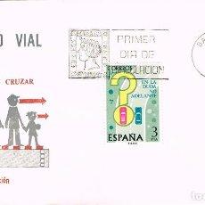 Sellos: EDIFIL 2313, ADELANTAMIENTOS, EN LA DUDA NO ADELANTE (SEGURIDAD VIAL), PRIMER DIA DE 6-4-1976 SFC. Lote 235122030