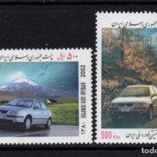 Sellos: IRAN 2611/12** - AÑO 2002 - AUTOMOVILES IRANIES. Lote 236182745
