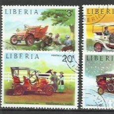 Sellos: 043B-SERIE COMPLETA COCHES EPOCA LIBERIA 1973 Nº 617/22 BONITOS.AUTOMÓVILES. Lote 237359690